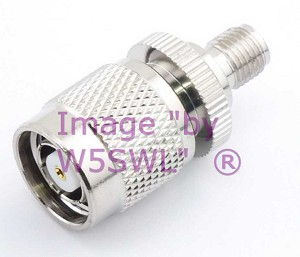SMA Female to Reverse Polarity TNC Male Coax Adapter Connector - by W5SWL