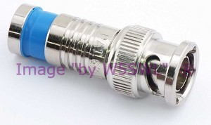 W5SWL Brand Premium Series BNC Male Compression Coax Connector RG-59