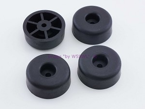 "Set of 4 - Round Rubber Feet .648"" Tall"