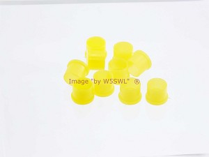 Coax Cap Cover SMA Female Series Yellow Plastic 10-PACK - by W5SWL