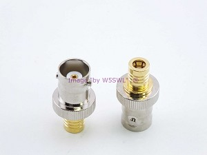 BNC Female to SMB Plug RF Connector Adapter - by W5SWL