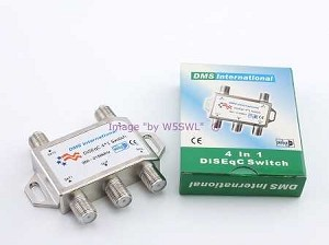 4 in 1 ( 4x1 ) DiSWqC Mini Switch DMSI Brand