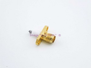 SMA 2-Hole Gold Chassis Connector Teflon Extended Insulator